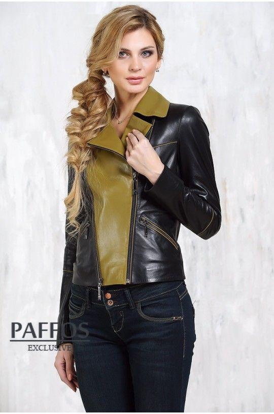05dd30485 Женская кожаная куртка-косуха MEFI | одежда | Кожаная куртка, Куртка ...
