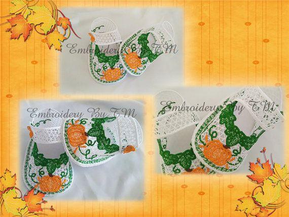 Baby bottie pumpkin by EmbroideryByTM on Etsy
