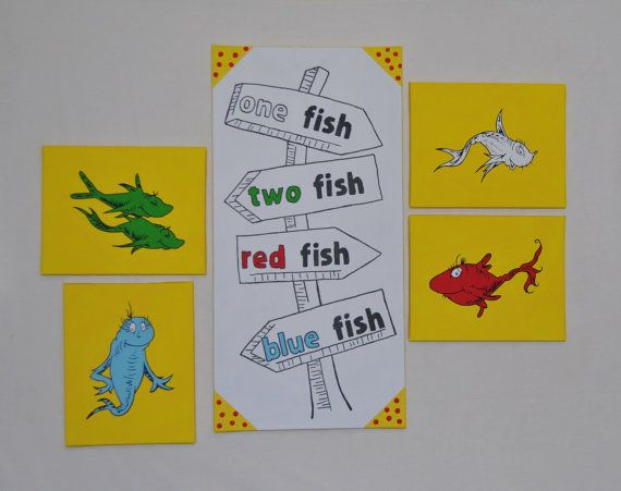 Dr Seuss Canvas Paintings Wall Art Decor 1 Fish 2 by mamashpey1 ...