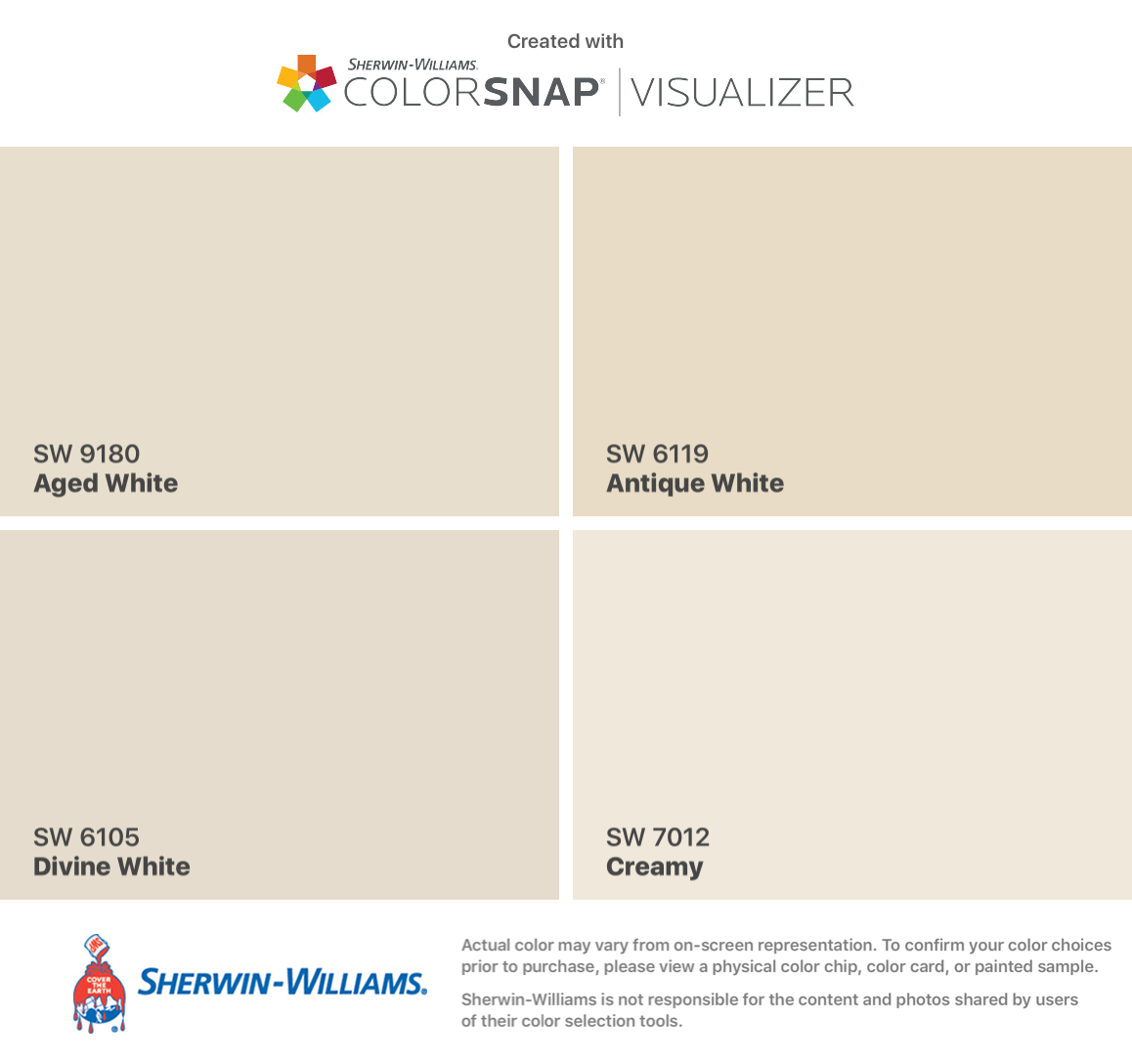 I Found These Colors With Colorsnap Visualizer For Iphone By Sherwin Antique White Paints Interior Paint Colors For Living Room Antique White Sherwin Williams