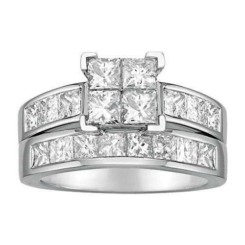 Fred Meyer Jewelers 3 Ct Tw Diamond Centerpiece Wedding Set 4299
