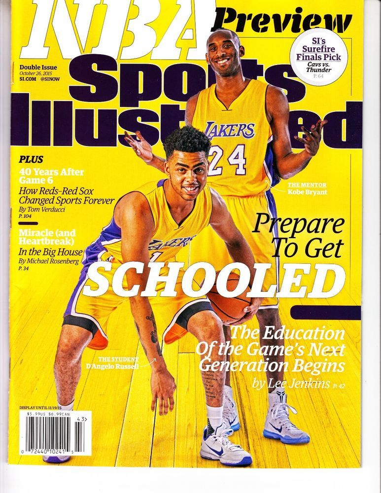 d'angelo russell kobe bryant sports illustrated magazine