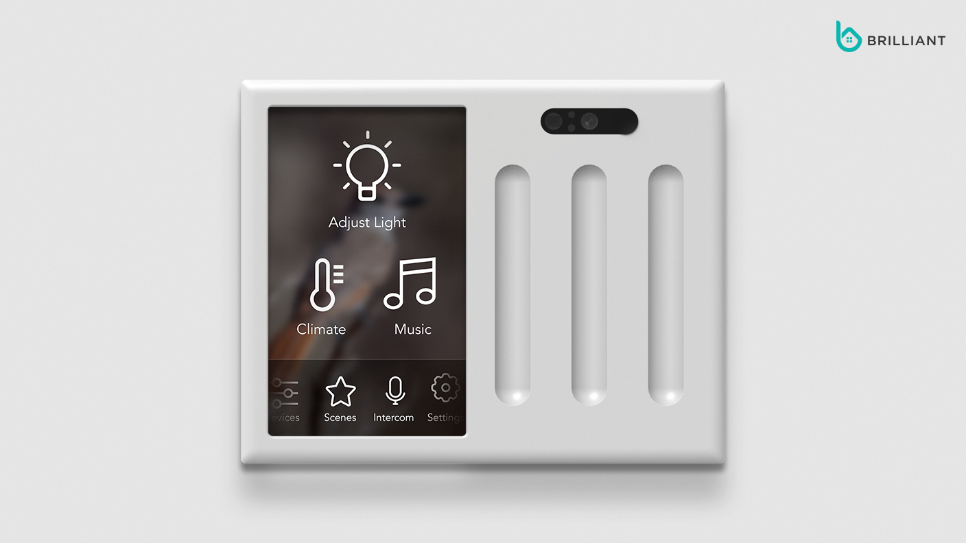 brilliant control - replaces existing light switch to give