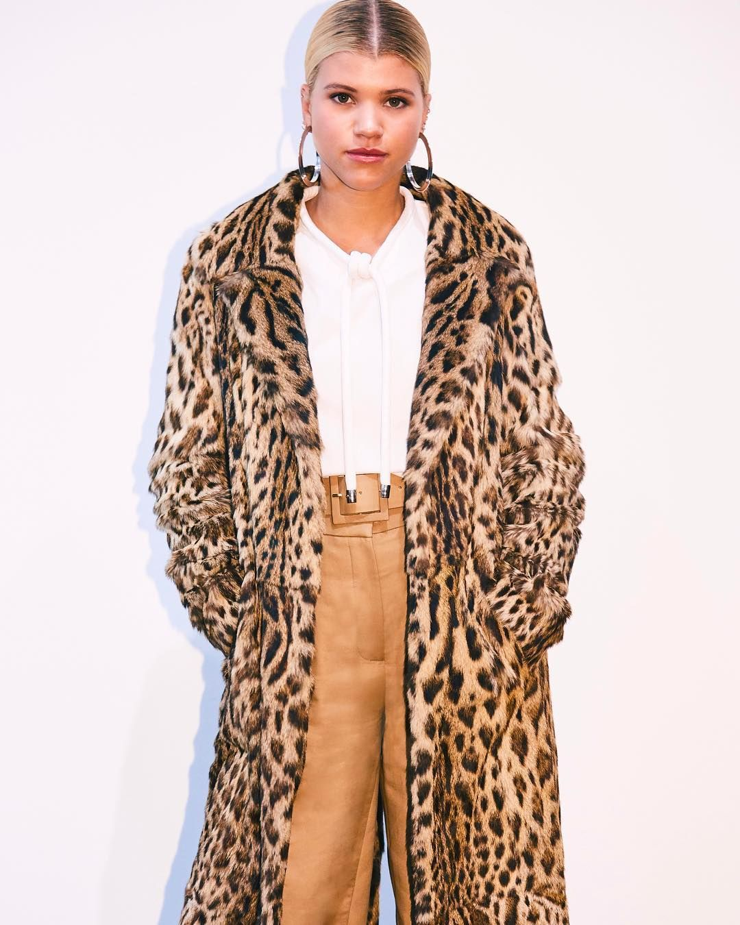 sofia richie caught backstage at our odlrspring18 show wearing an oscardelarenta coat over
