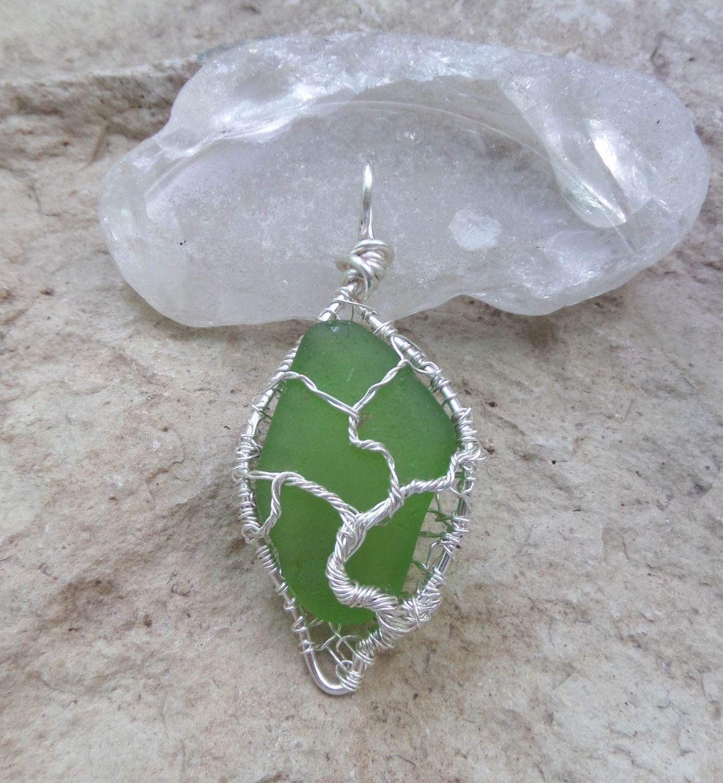 Lake michigan beach glass tree of life necklace beach glass and etsy lake michigan beach glass tree of life necklace mozeypictures Image collections