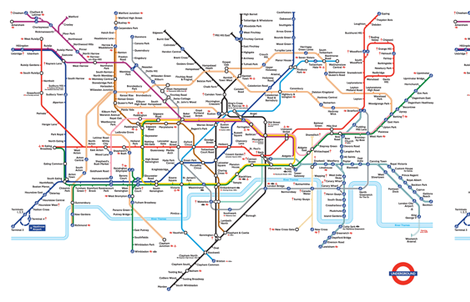 London Underground Tube Map Fabric By Emma41 On Spoonflower
