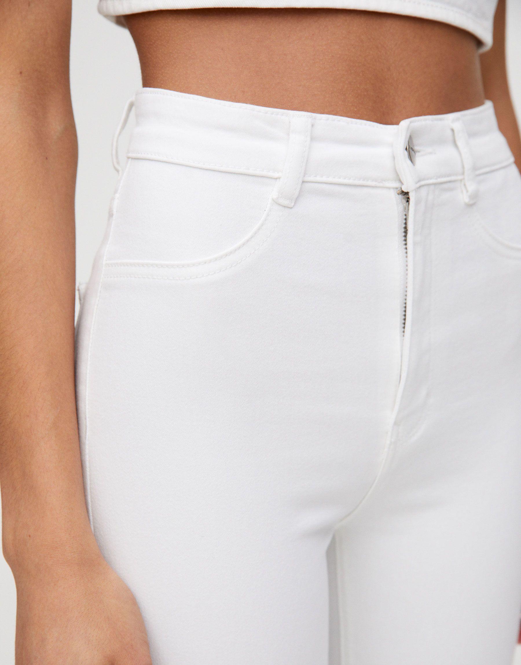 Pouzdan Nepodnosljiv Staza Pantalon Blanco Alto Mujer Goldstandardsounds Com