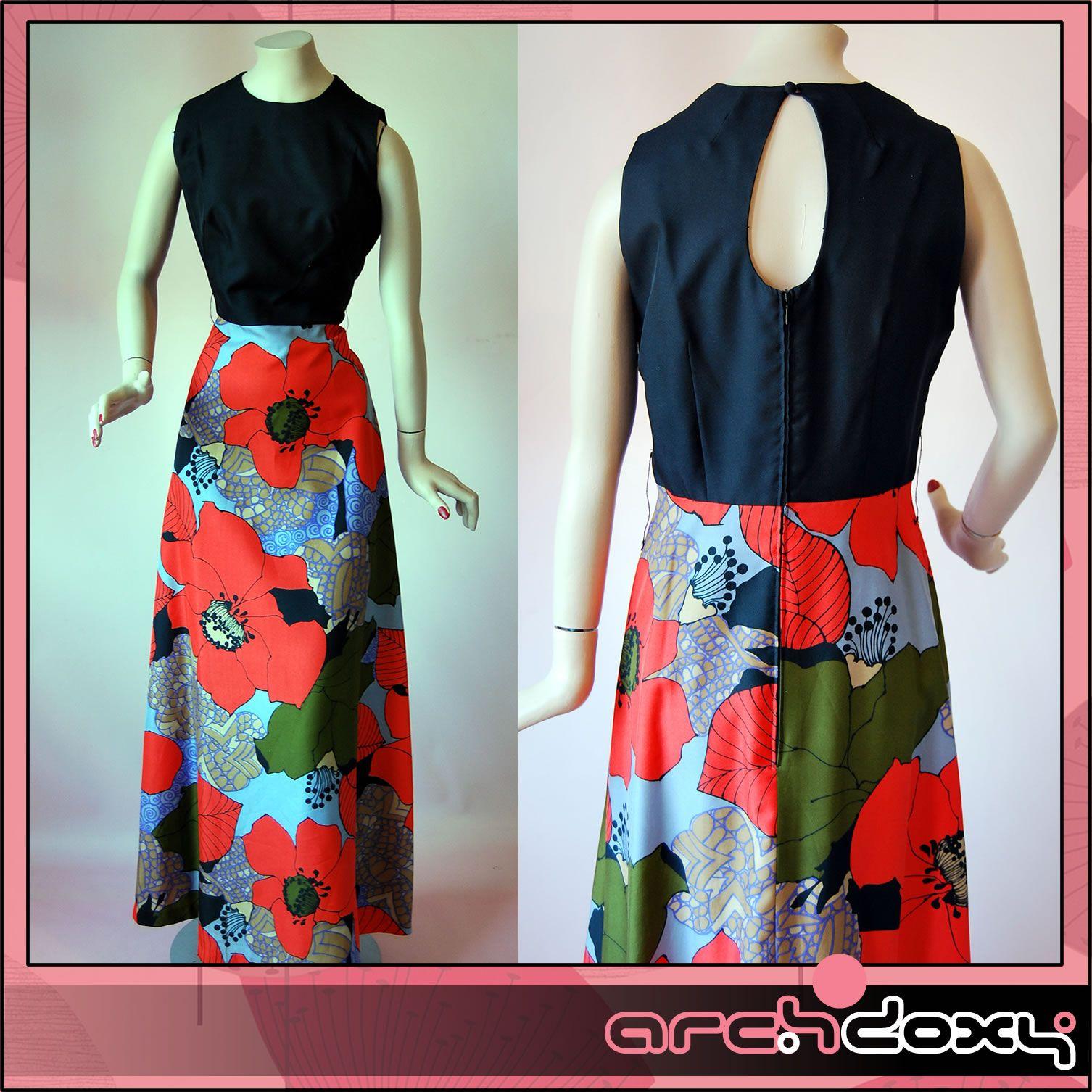 Vintage 1960s Outstanding Huge Poppy Print Cut Out Back MOD Maxi SKA Dress #vintage #mod  http://www.ebay.co.uk/itm/Vintage-1960s-Outstanding-Huge-Poppy-Print-Cut-Out-Back-MOD-Maxi-SKA-Dress-UK12-/371593257883?ssPageName=STRK:MESE:IT