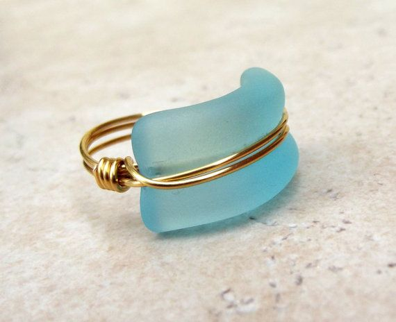 Wire sea blue size wire center turquoise blue sea glass ring bottle lip 24k gold wire wrapped rh pinterest com razor wire blue sea wire size calculator keyboard keysfo Choice Image