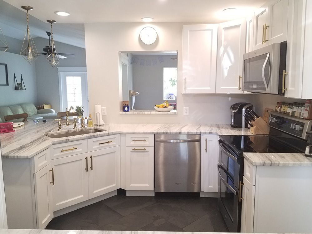 Dakota White Rta Kitchen Cabinets: Thompson White 10x10 RTA Kitchen Cabinets Online In 2019