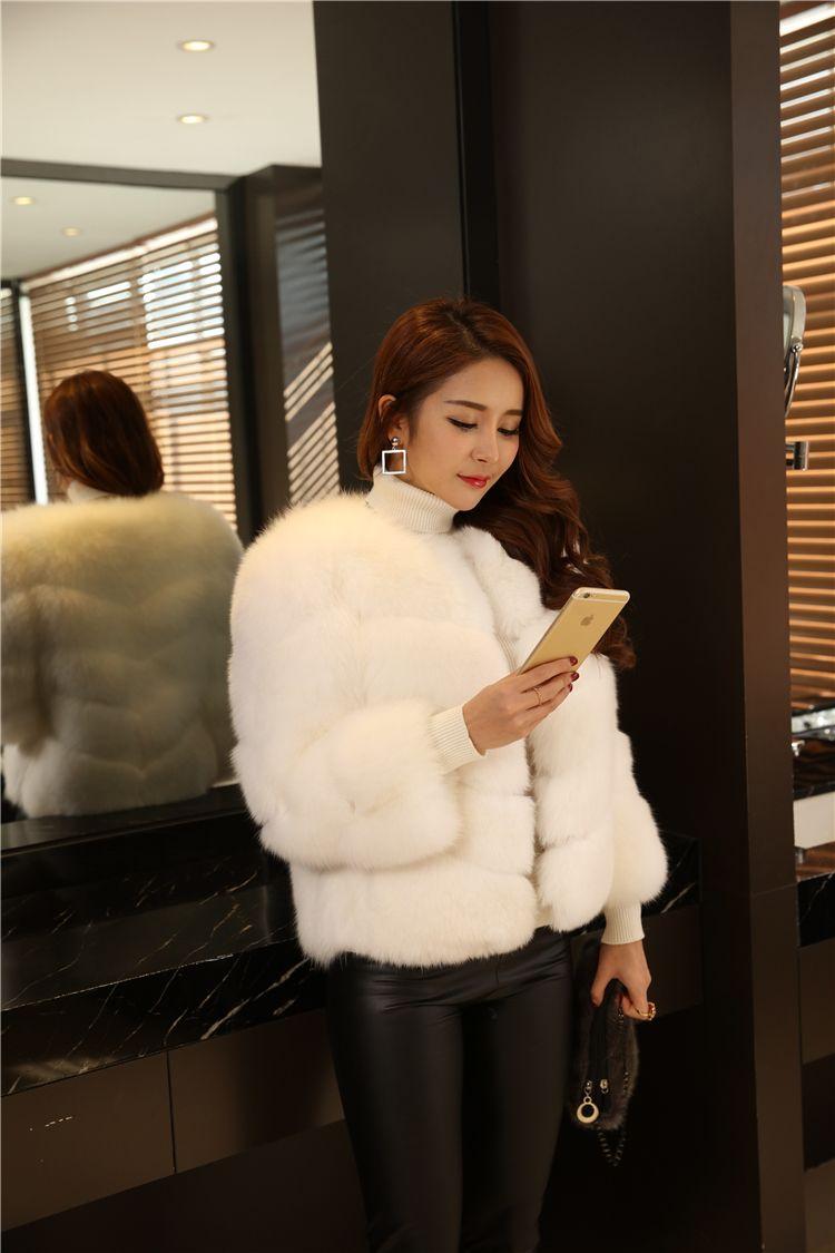 Luxury Women Faux Fur Coat Winter Warm Fur Coat Jacket Soft Colors Royal Outwear