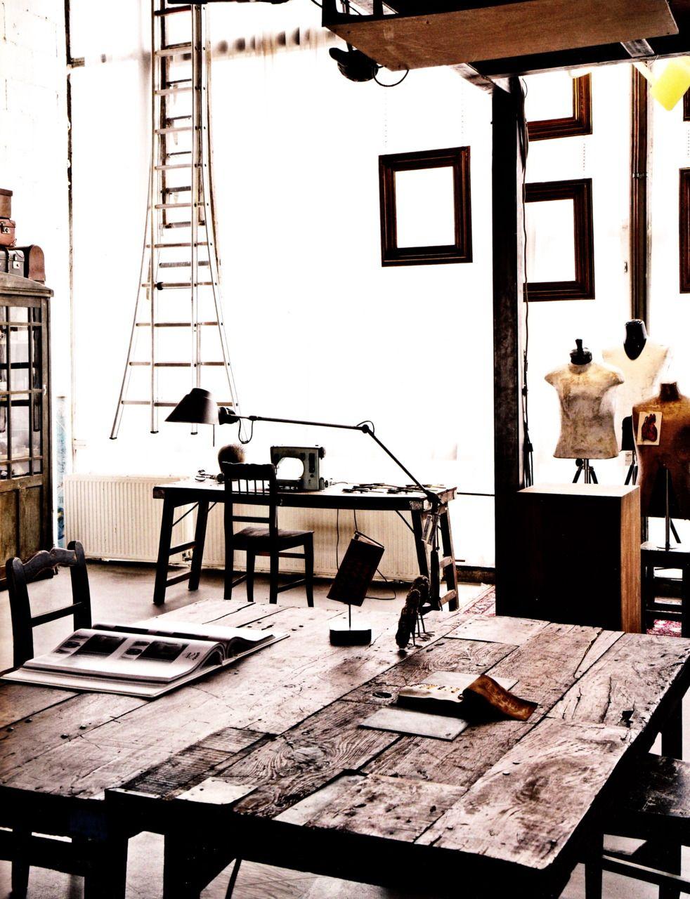 Sewing/dressmaking studio? Elle Decor Italia, March 2011.