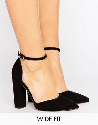 30256ce4a9b ASOS - PENALTY - Chaussures à talons pointure large avec bout pointu