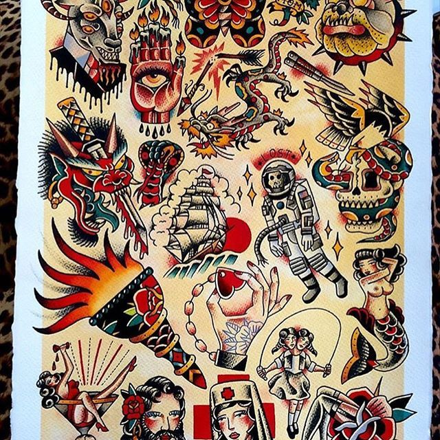 Flash By Xexu Jerez Trflash Traditional Flash Tattoo Tattooflash Traditional Traditionalt Traditional Tattoo Art Traditional Tattoo Old School Tattoo Designs