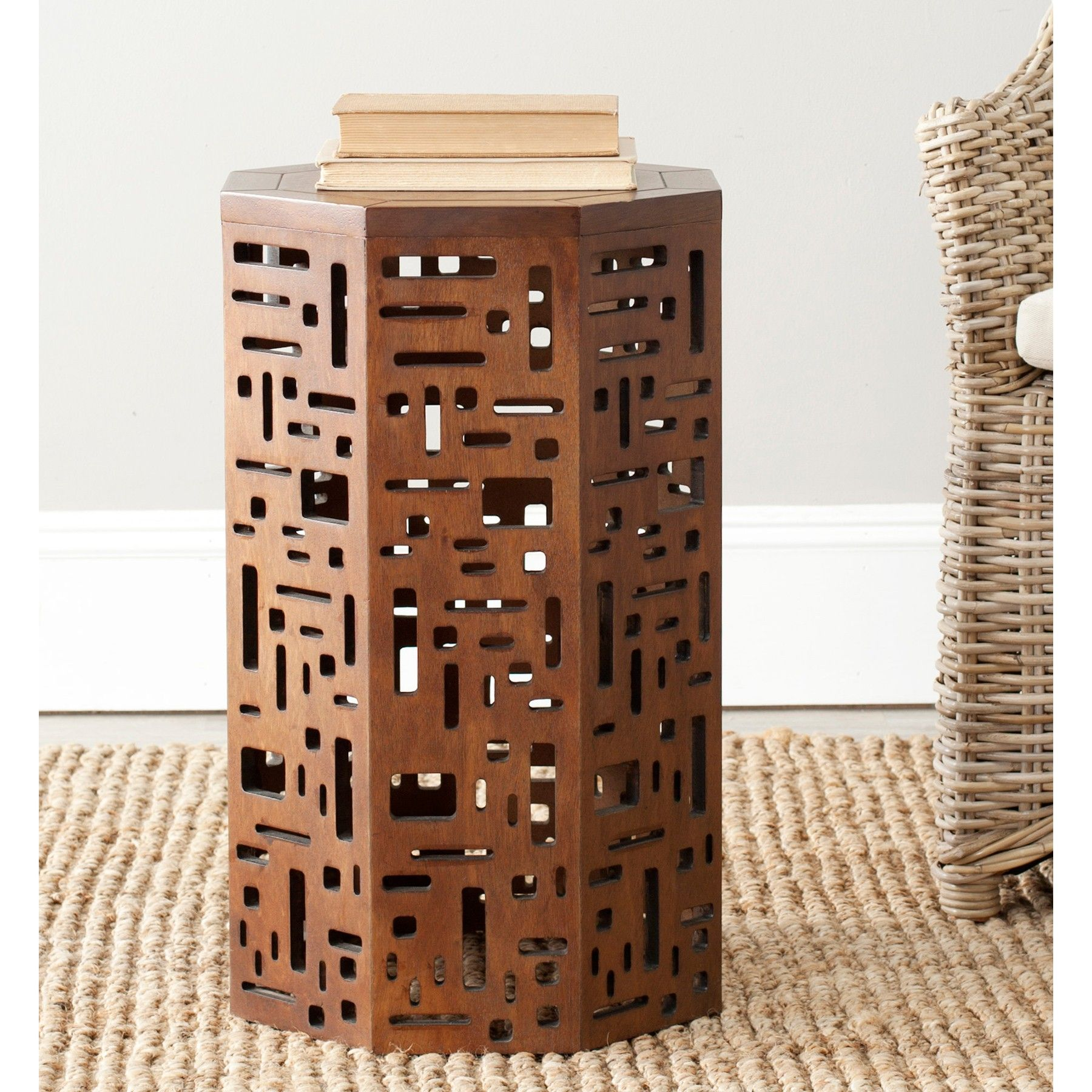 Cody Octagon End Table Side table, Geometric side table