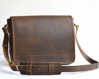 Vertical Leather Satchel Small Leather Messenger by SolidLeatherCo 7a8dc7ca960fa