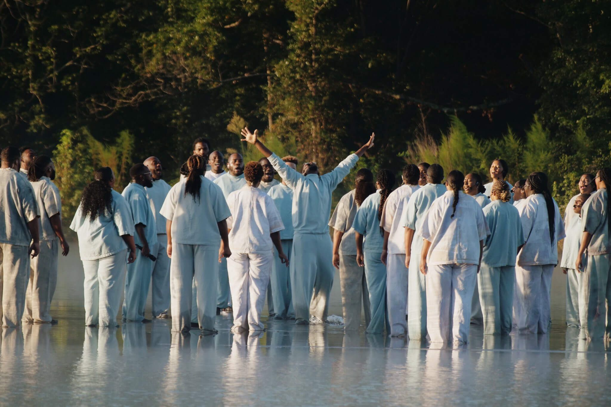 Kanye West Crew Walk On Water During Sunday Service Video In 2020 Kanye West Kim Kardashian And Kanye Kanye