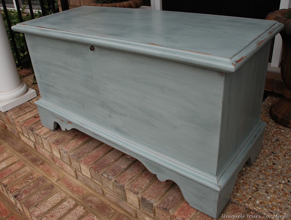 Renewed Cedar Chest I am SO DOING THIS with mine. I have this