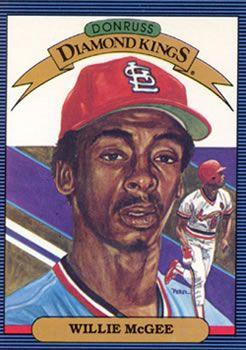 1986 Donruss 3 Willie Mcgee Front Willie Mcgee Baseball Cards Cardinals Baseball