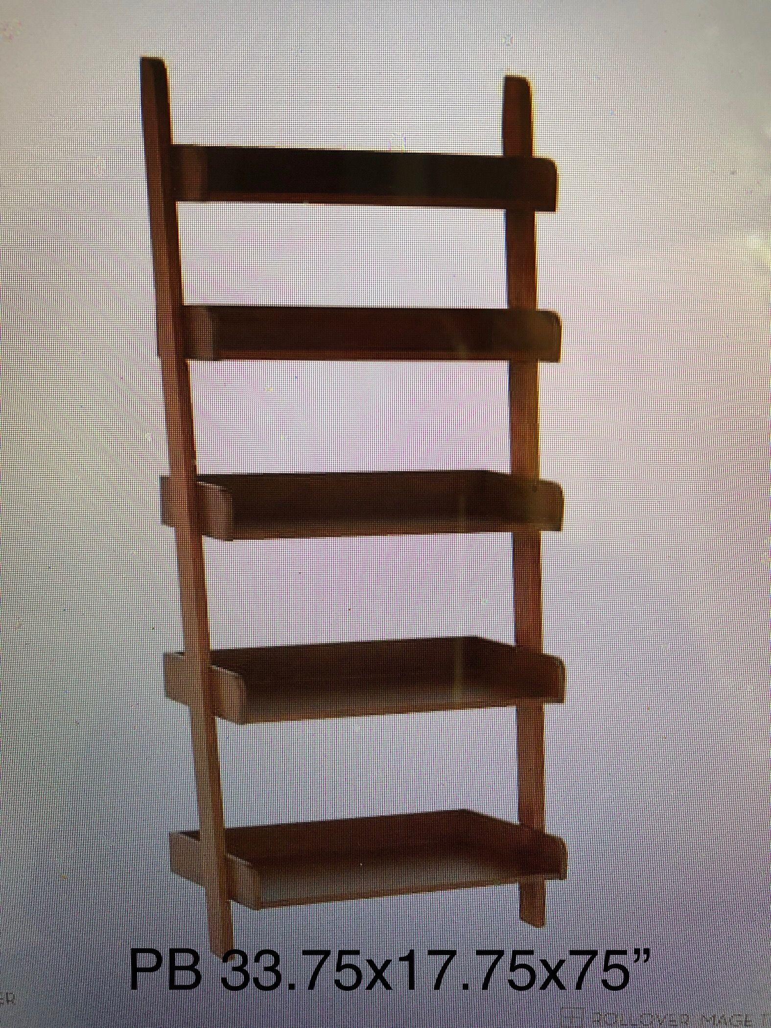 leaning ladder shelf   woodworking   leaning ladder shelf