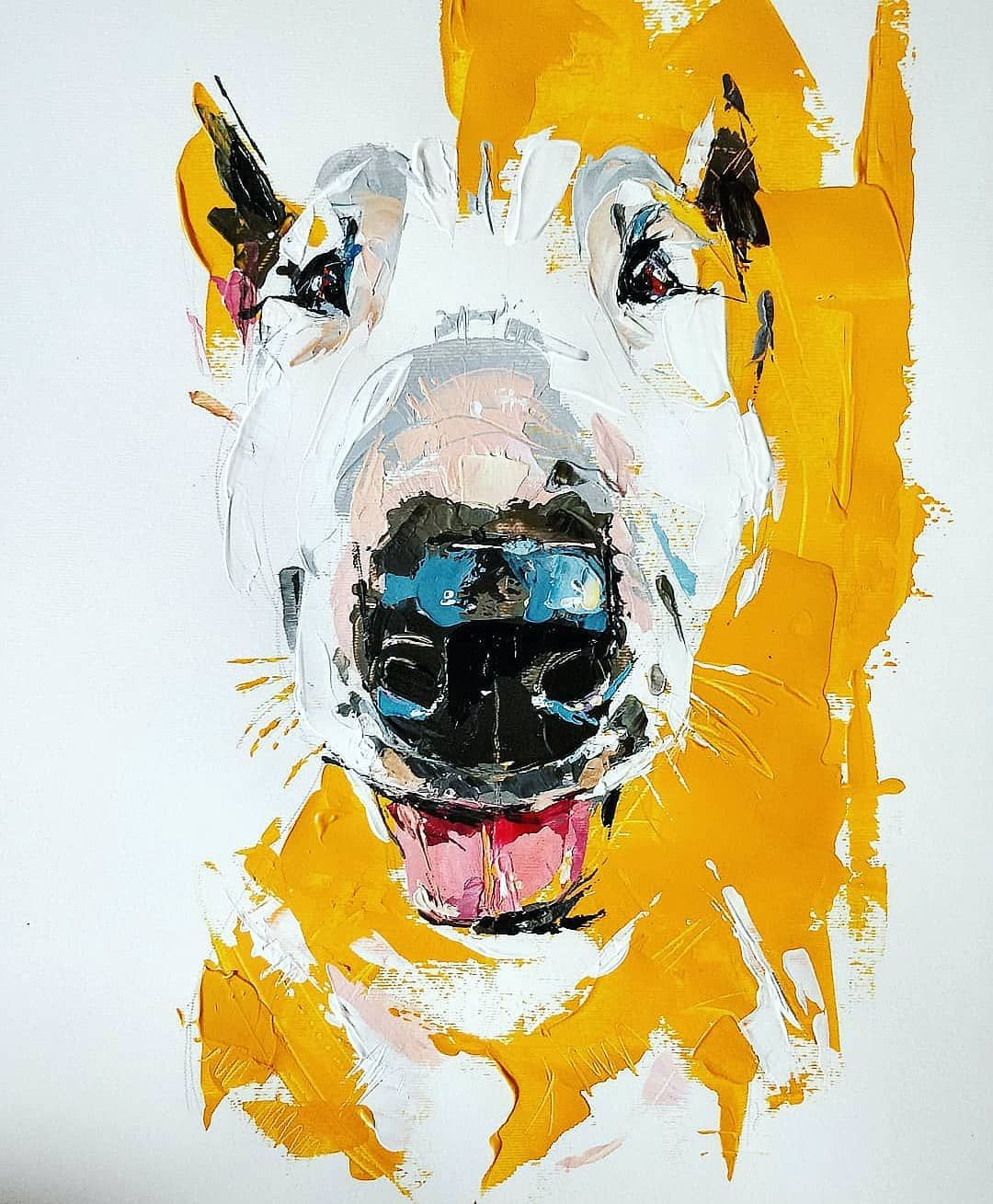 English Bull Terrier Painting