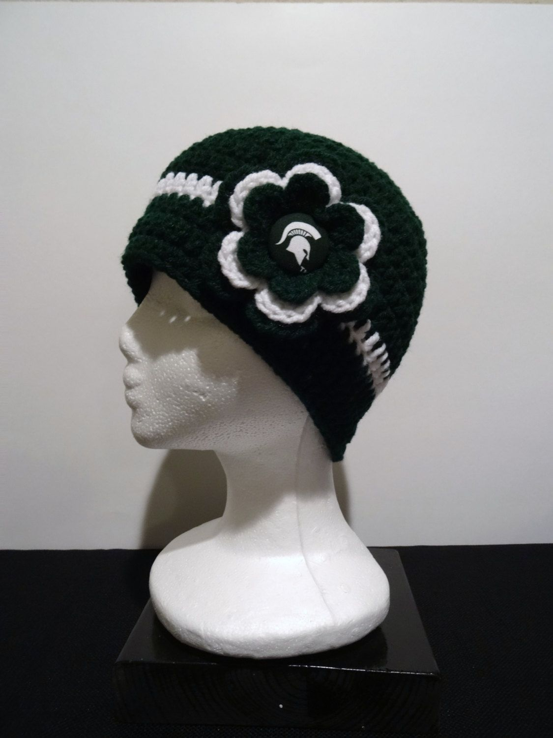 638f53f41b2 Michigan state spartans alternate crocheted michigan state university michigan  state spartans jpg 1125x1500 Msu crochet hat
