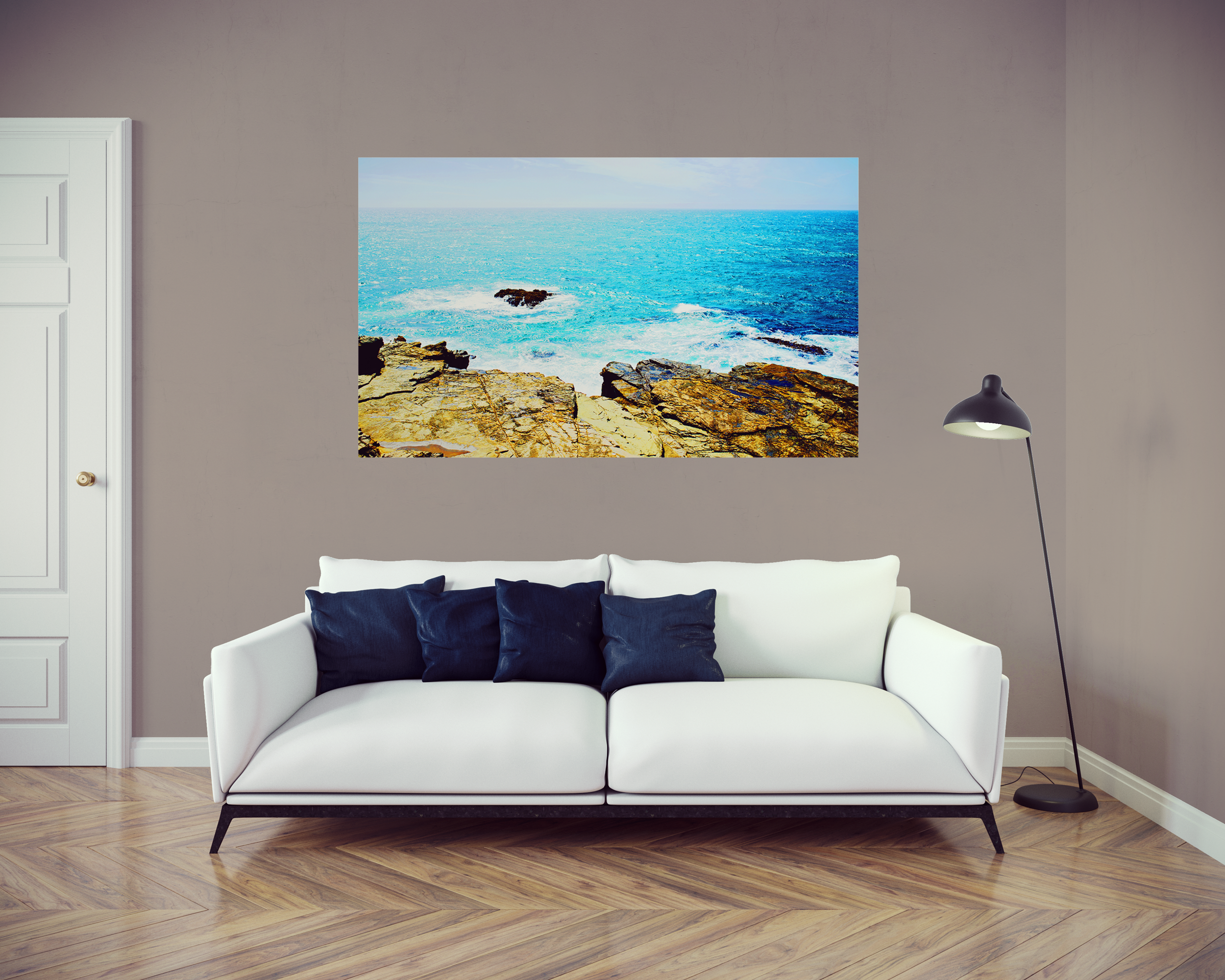 Metal Wall print, West Coast, Ocean Photography, Wall Art Print ...