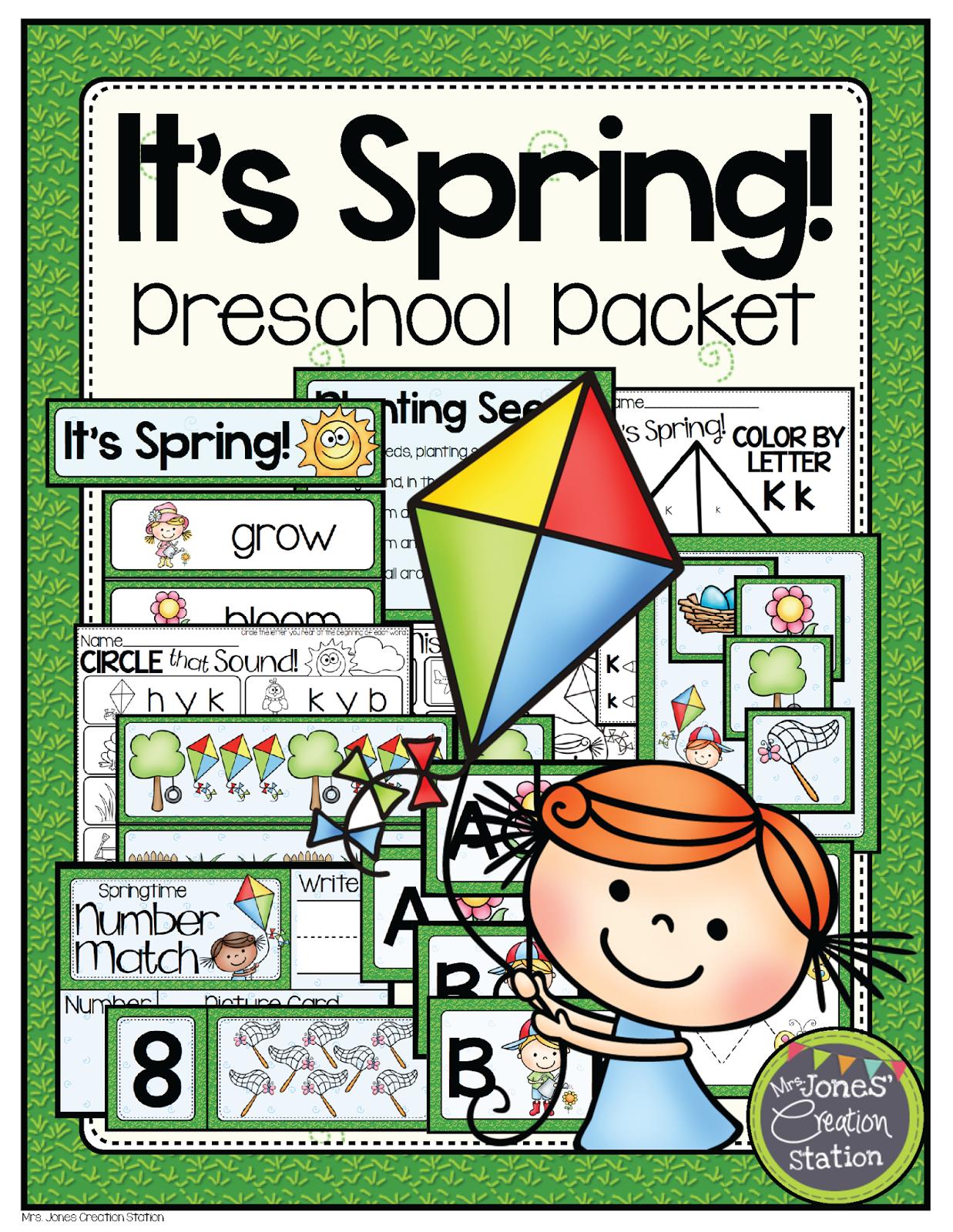 Spring Preschool Pack