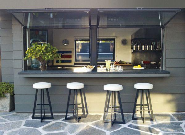 Chic Interior Design Courteney Cox's House - Outdoor Lounge Bars Design