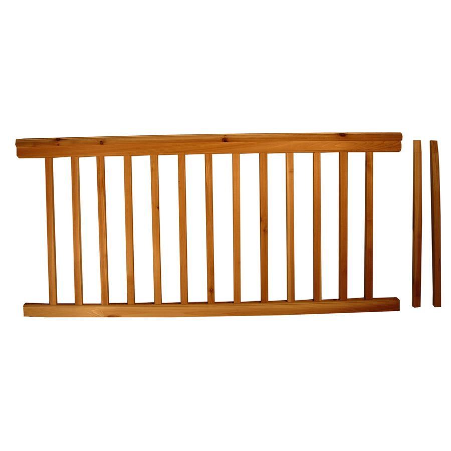 Best Top Choice Instarail Natural Redwood Deck Railing Kit 640 x 480