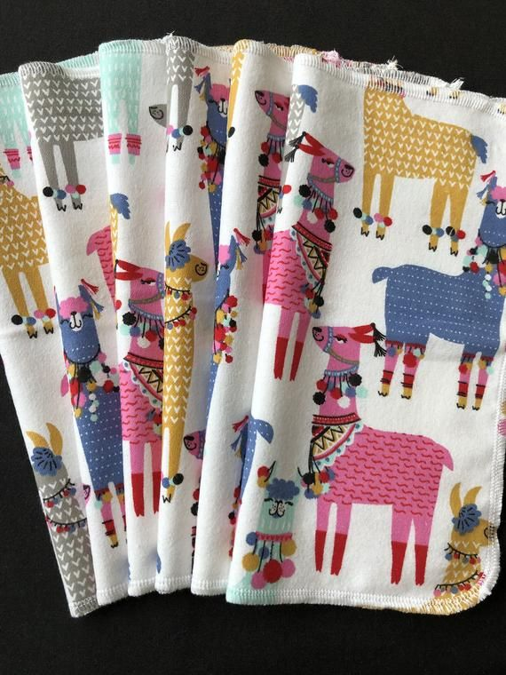 Llama Cloth Napkins, Reusable Napkins, Eco Friendly Napkins, Pack Of 6 Napkins, Bright Colors Napkin #clothnapkins