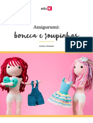 Receita em Pdf - Boneca Fofa (baseada na Lol) no Elo7 | ToyArt Amigurumi  (C9A41F) | 396x298