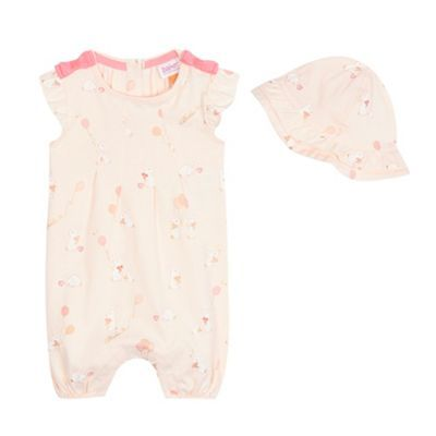 919242eabb670 Baker by Ted Baker Baby girls  pink bunny print romper and hat ...