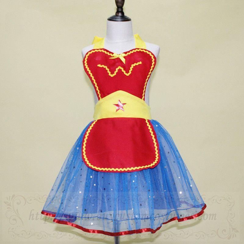 b08fb3cb512ed Superhero WonderWoman costume apron for girls and womens | Superhero ...