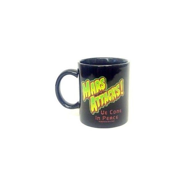 Amazon.com: Mars Attacks Ceramic Mug: Toys & Games (€13) ❤ liked on Polyvore featuring fillers, food, misc, drinks and kitchen