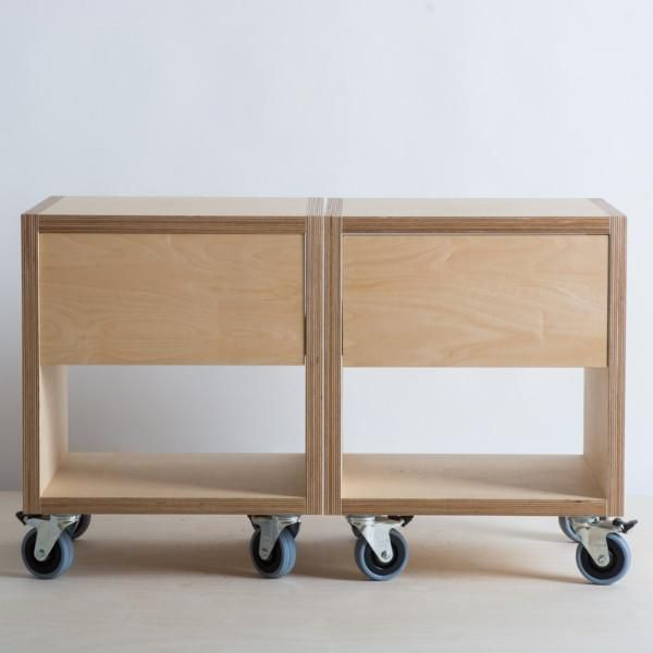 Tv Storage Unit On Wheels Made In Nz Using Birch Plywood With Drawer And Lino Front For Colour Plywood Coffee Table Door Handles Built In Furniture