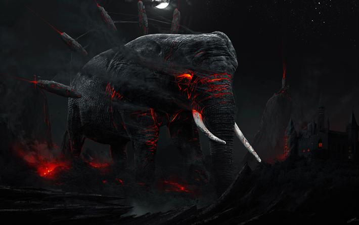 Dark Monster Wallpaper 4k