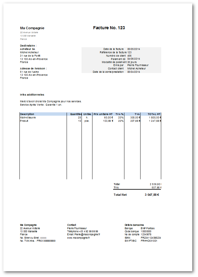 Pingl Par Chelly Zied Sur Tlcharger Invoice Template