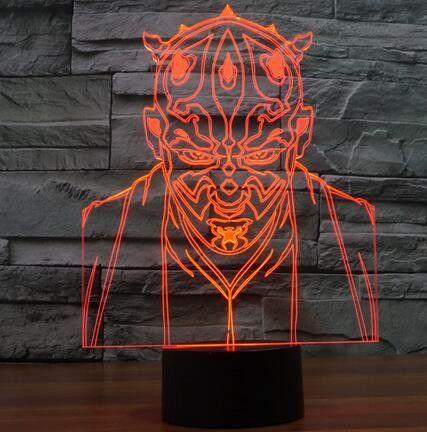 Star Wars 3d 7 Color Led Lamp 7 Figures 3d Night Light 3d Illusion Lamp 3d Illusions