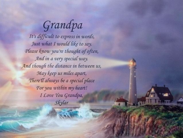 Grandpa Personalized Poem Father's Day Gift