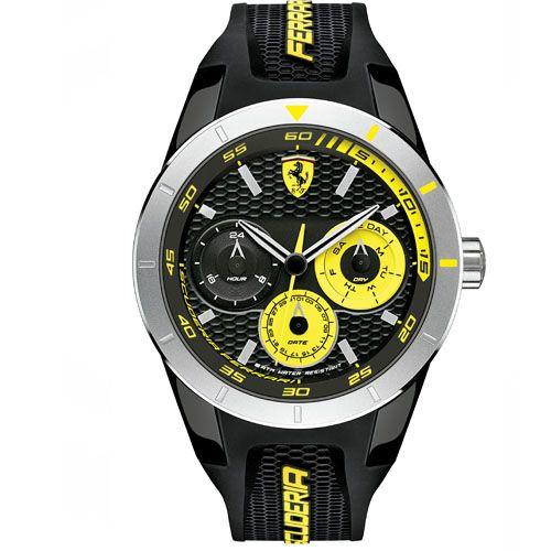 5ccff54002f Relógio Scuderia Ferrari Masculino Borracha Preta - 830257