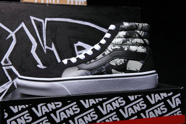 cc534b80a6 Super Heros Vans Sk8 High Superman Black Off the Wall Skateboard Shoes   S5041202  -  39.99   Vans Shop