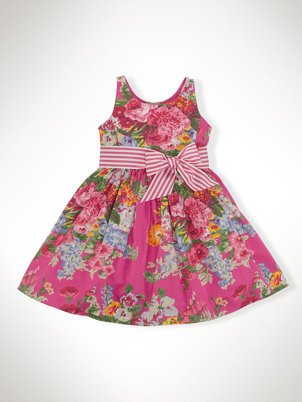 Floral Cotton Sateen Dress - Dresses Girls 1½- 6½ Years - Ralph Lauren  France f39de0c77a47