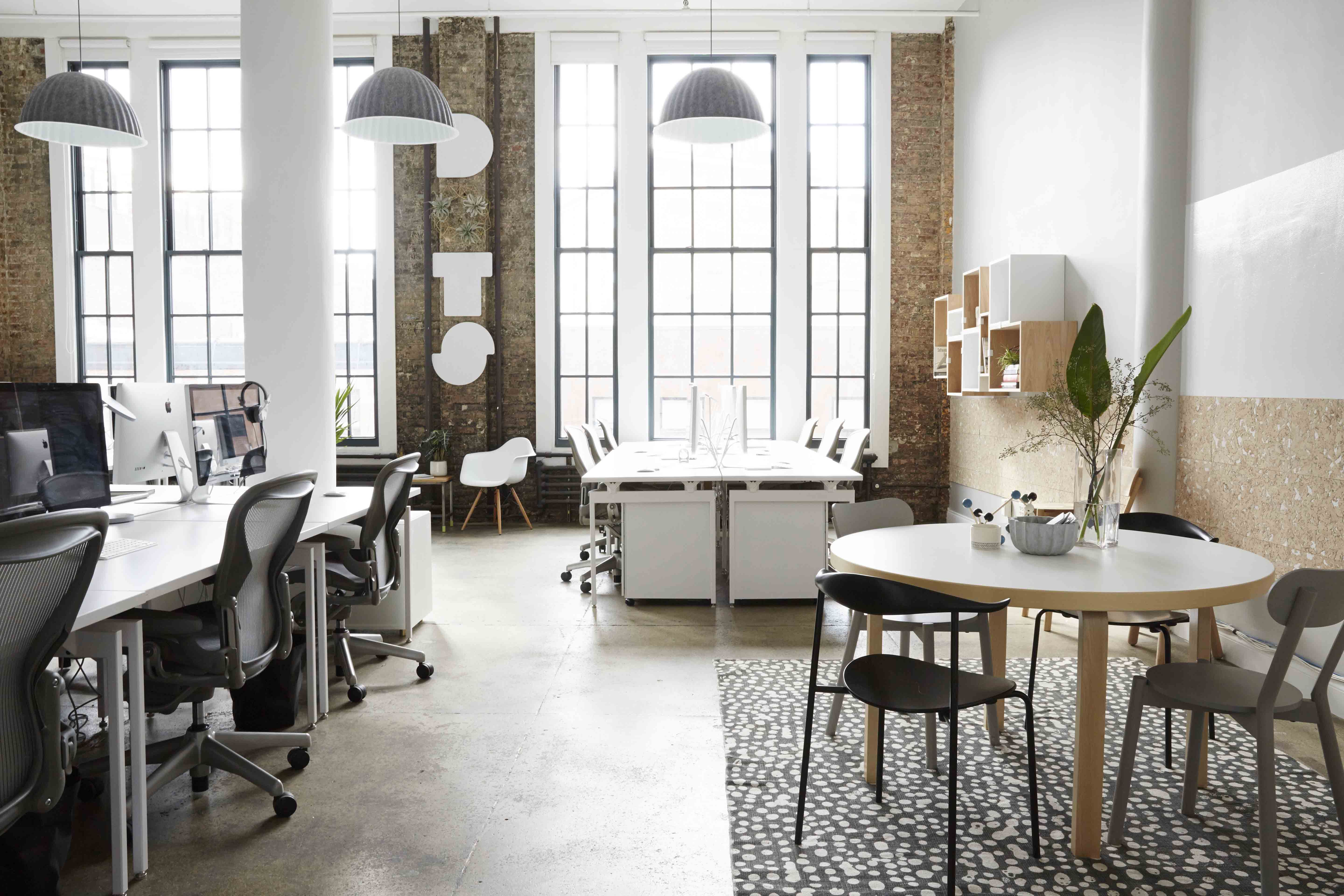 Dots office that combines American office with Scandinavian home ...