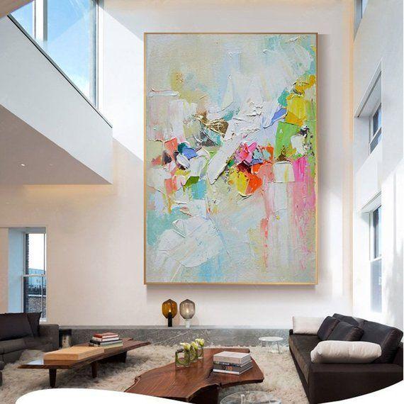 Abstract Painting Canvas Art Wall Art Pictures For Living Room Wall Decor Home Decoration Hallway Yellow Pink Gold Acrylic Original Texture Pinturas Abstractas Arte Abstracto De Pared Cuadros De Arte