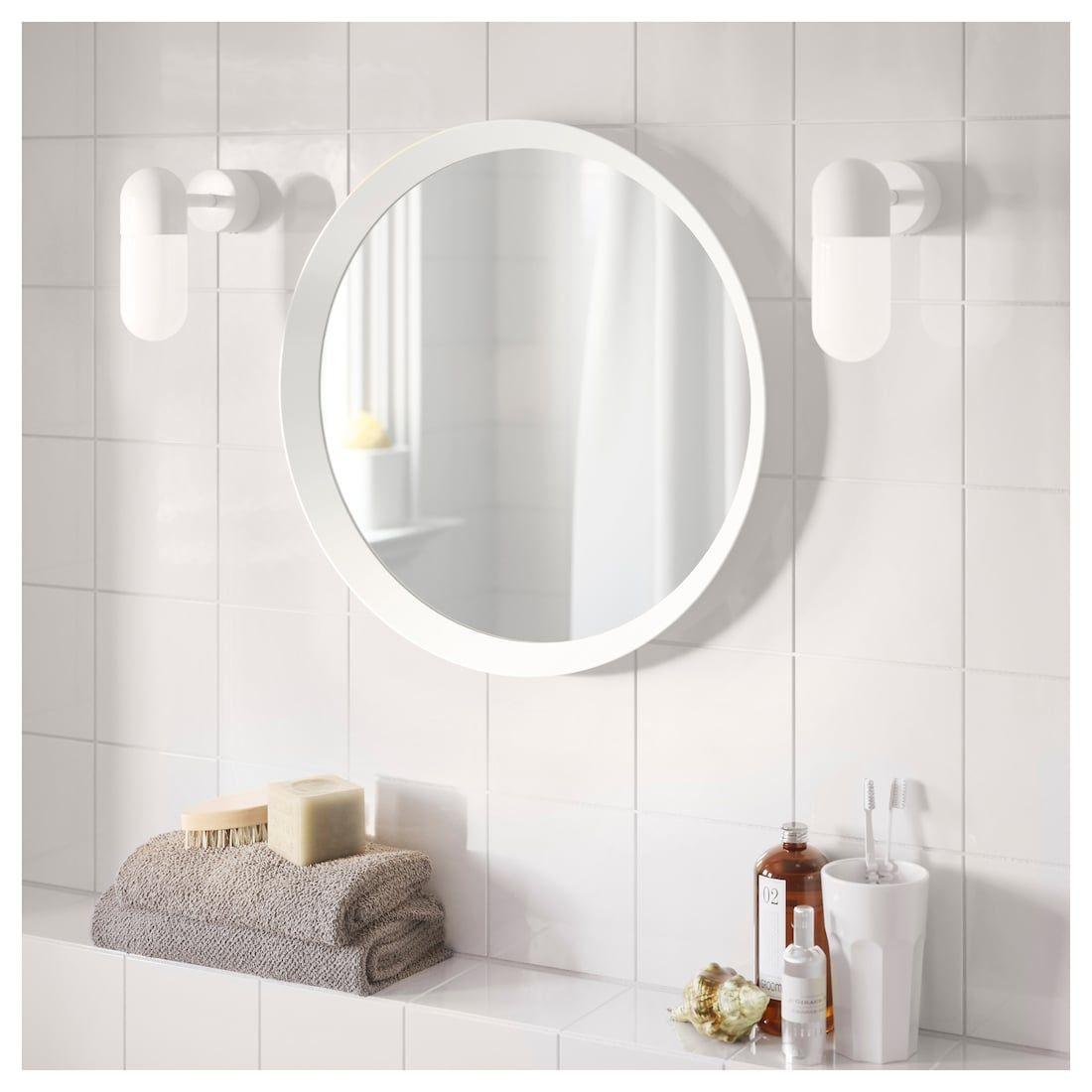 LANGESUND Mirror - white - IKEA | Bathroom mirror, Ikea ...