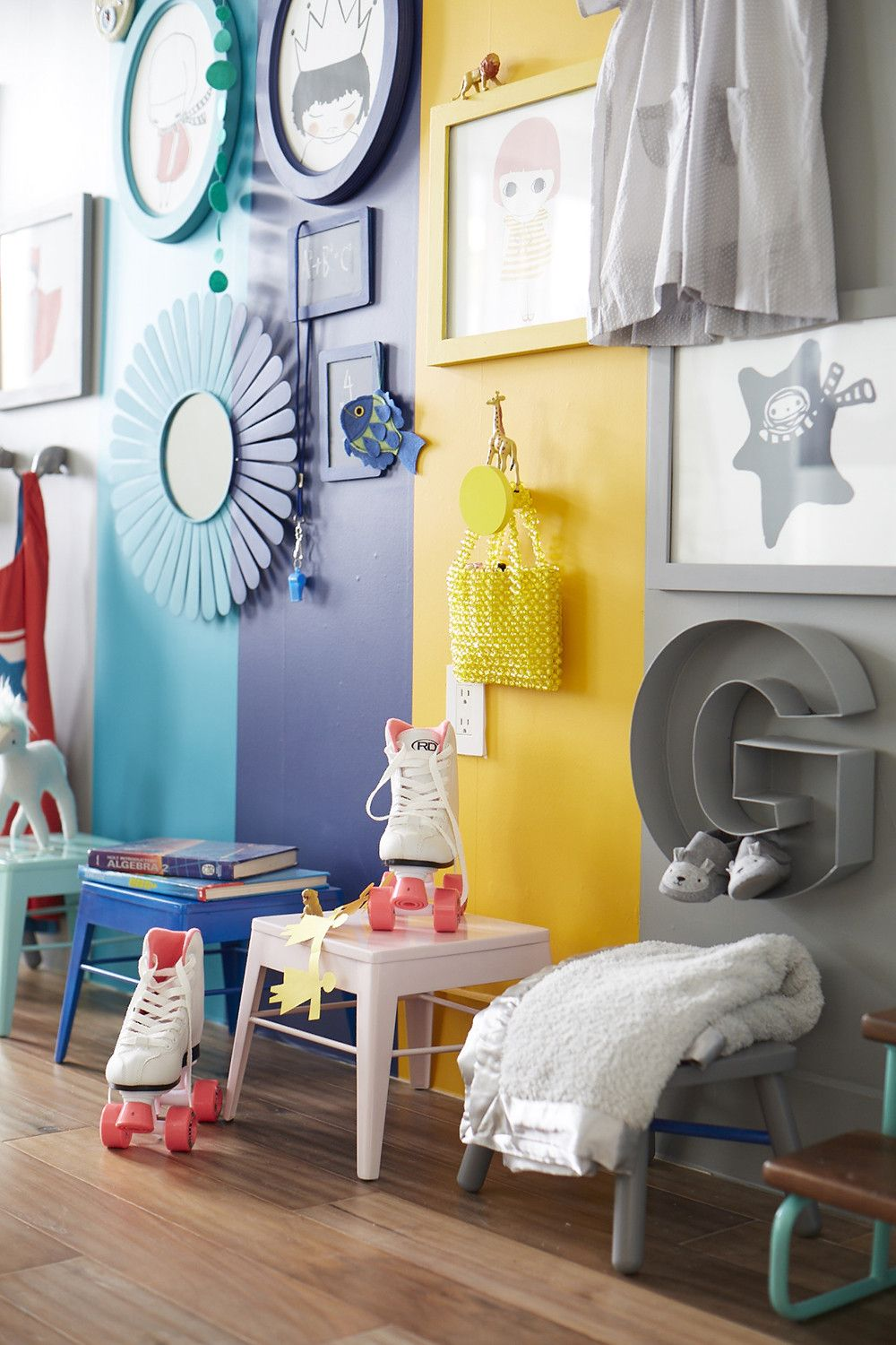 A Colorful Kid\'s Room Idea | Color walls, Kids s and Room ideas