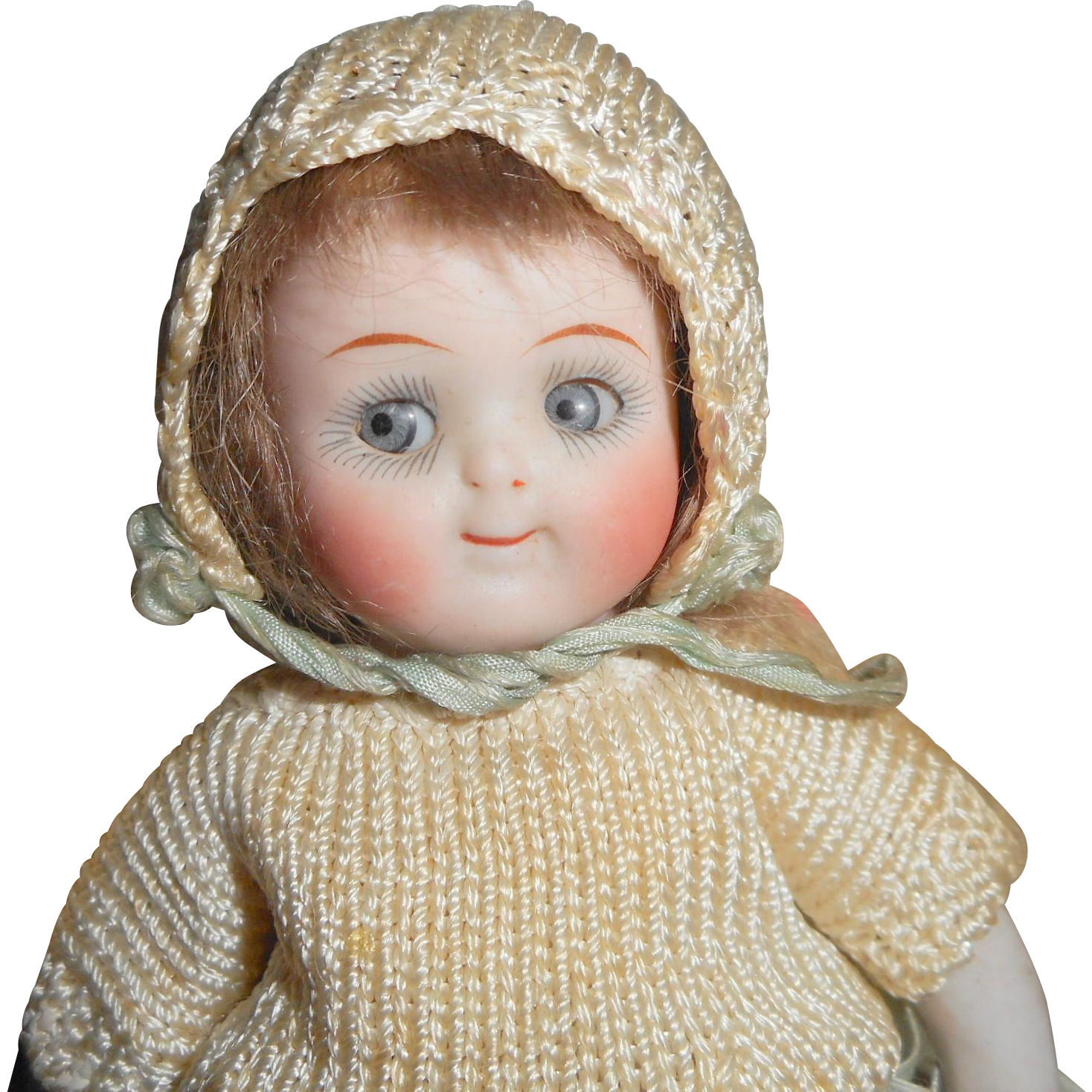 Fab Kestner 111 Jointed Knee & Elbow All Bisque Doll c1915 from theluckyblackcat on Ruby Lane