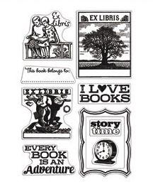 *Hero Arts Clear Stamps I LOVE BOOKS Studio Calico 2011 ST506
