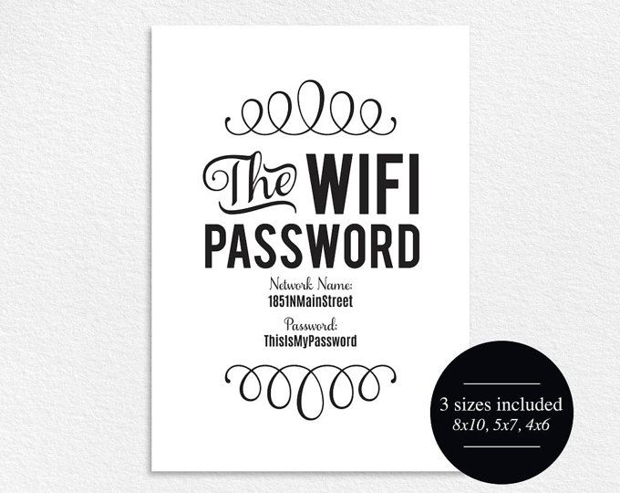 WIFI Password Sign, Wifi password printable, internet sign, Be our Guest Sign, Guest Wifi, Guest Room Sign, PDF Instant Download #BPB112